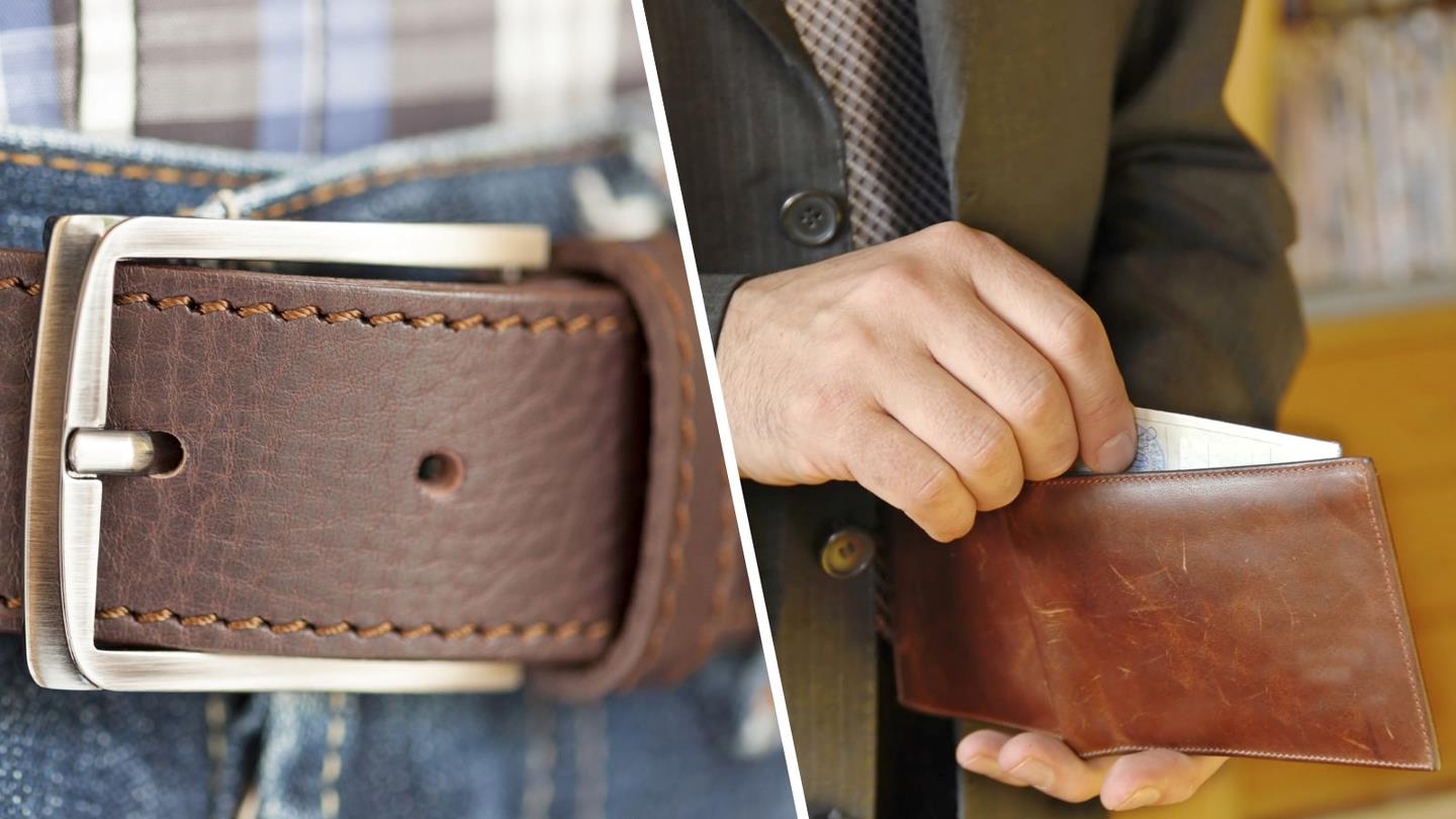 Belt buckle and wallet from Marshal Wallets